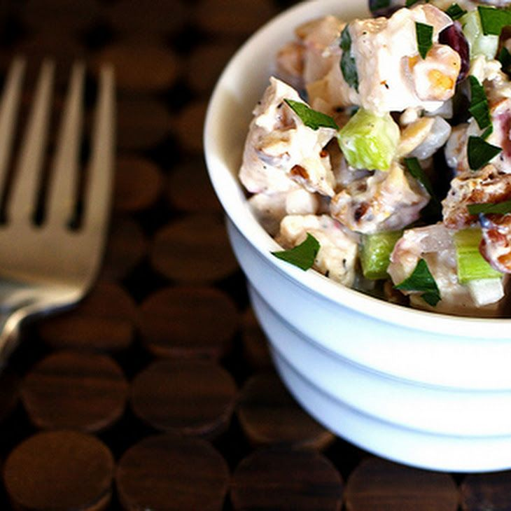 Cranberry-Walnut Chicken Salad Recipe Just serve on a bed of lettuce ...