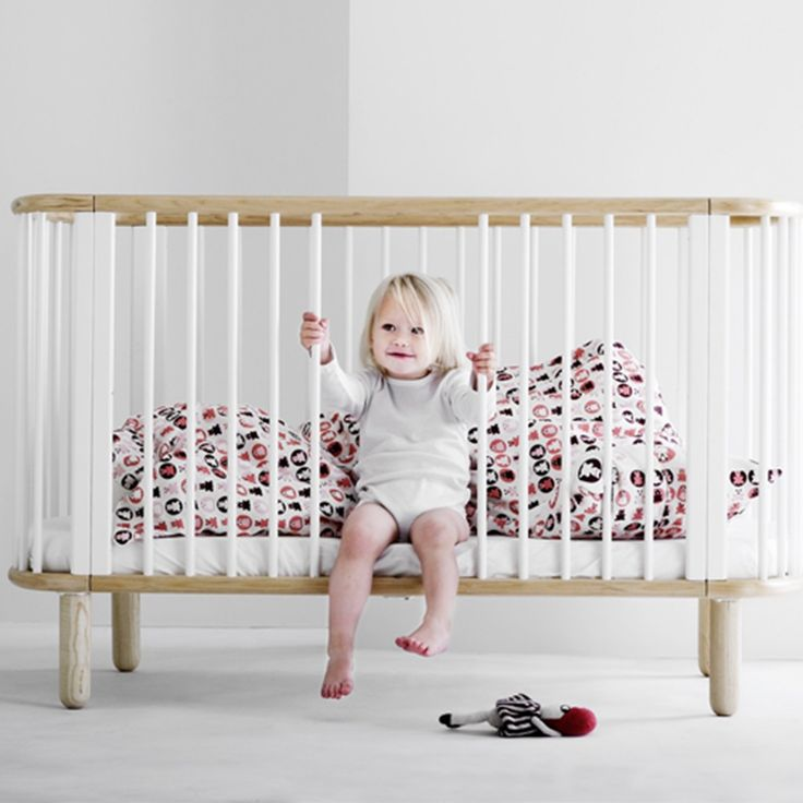 scandinavian nursery furniture. flexa 5 in 1 baby cot bed white and beech 499 scandinavian nursery furniture