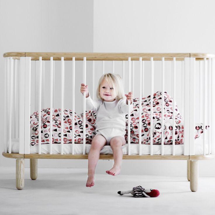 FLEXA 5 in 1 BABY COT BED in White and Beech £499 https://instagram.com/milka_interiors/