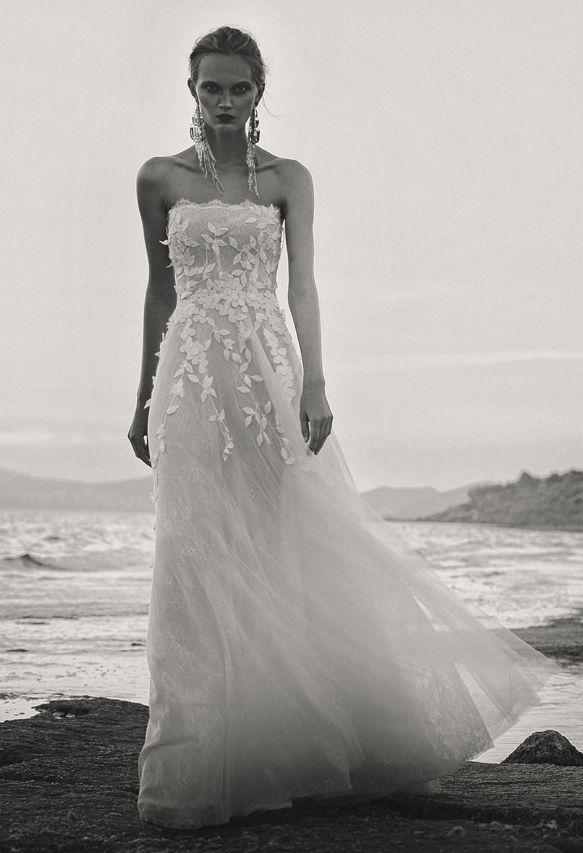 BR 1733 Floral Tulle Mini Gown #weddingdress #bridal2017 #costarellos #bridetobe #brides #lace #novia #abitodasposa #wedding