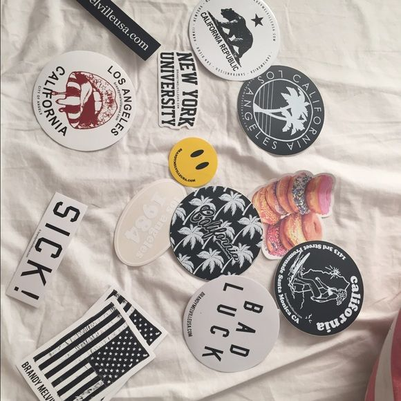 Brandy Melville Stickers 14 Brandy Melville stickers! Stick this on your laptop or anywhere else! Brandy Melville Tops