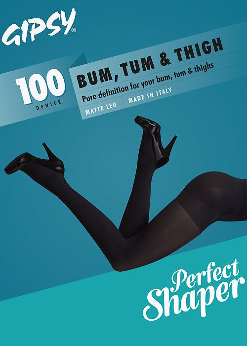 Gipsy Bum Tum and Thigh 100 Opaque Shaper Tights | UK Tights