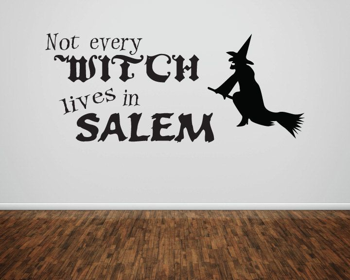 Not every witch lives in Salem halloween by huckleberrycreation, $12.00