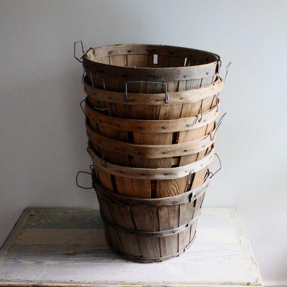 baskets... I'm imagining fresh apples, peaches....