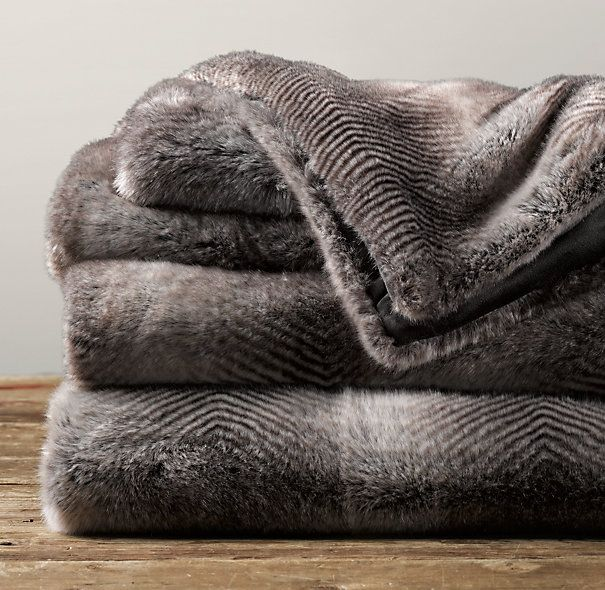 Restoration Hardware Sofa Throws: 30 Best Images About Fur/Luxe Faux Fur Blinkets On