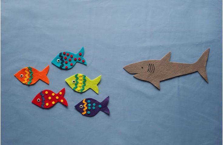 Five Little Fish Swimming in the Sea Felt Board Magic in