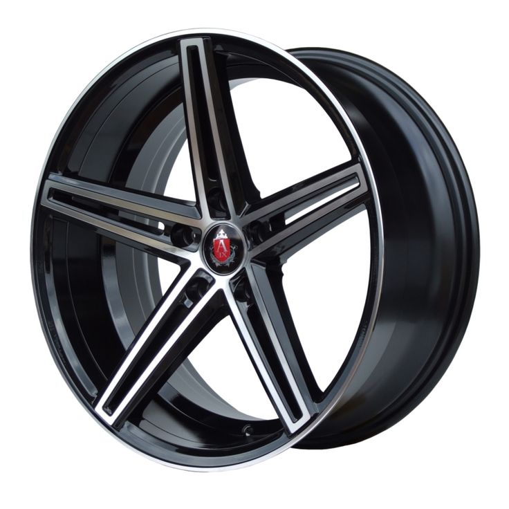AXE EX14 BLACK POLISHED FACE alloy wheels with stunning look for 5 studd wheels in BLACK POLISHED FACE finish with 19 inch rim size