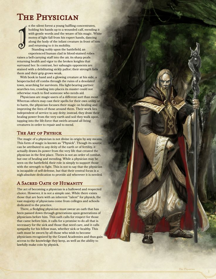 DnD 5e Homebrew — Physician class by Gyrowins