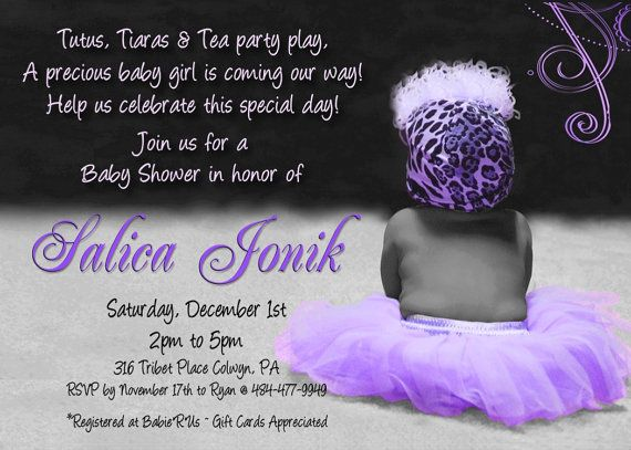 TUTU Baby Shower Invitation For GIRL By WilsonPhotoAndDesign, $15.00