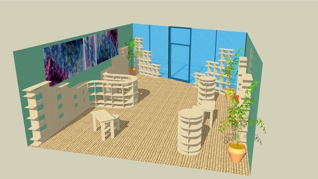 Large preview of 3D Model of Gift Retail Shoppe