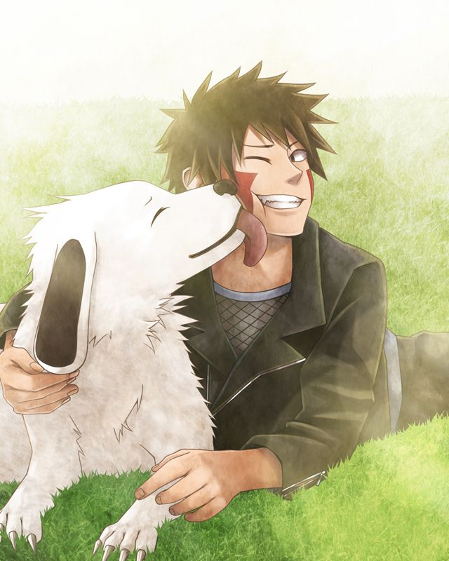 Inuzuki Kiba and Akamaru <- nice piece of anime I like the dog