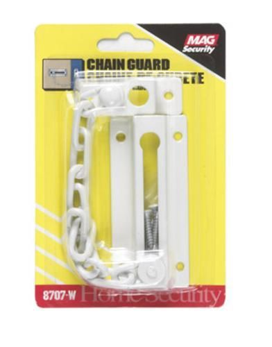 """Prime-Line U 9852 Guard Door Chain, 1-1/4"""" x 3-1/2"""", White"""