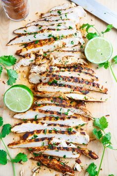 Taco Lime Grilled Chicken - Only 3 ingredients, chicken, lime juice and taco seasoning! Perfect for in tacos, on burrito bowls or topping a salad!