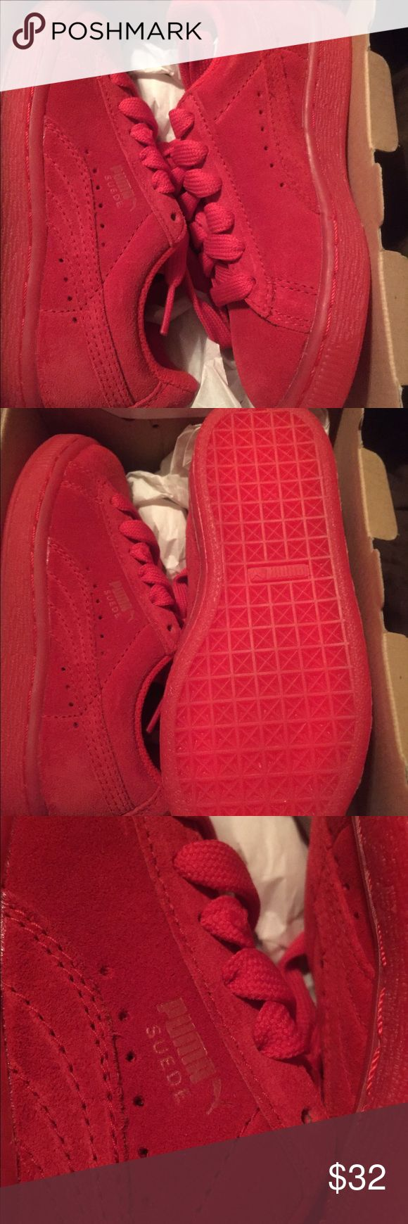 Puma Suede kids shoes Puma sued sneakers Beautiful RED color. Never worn brand new. Unisex shoes for girl or boy. Puma Shoes Sneakers