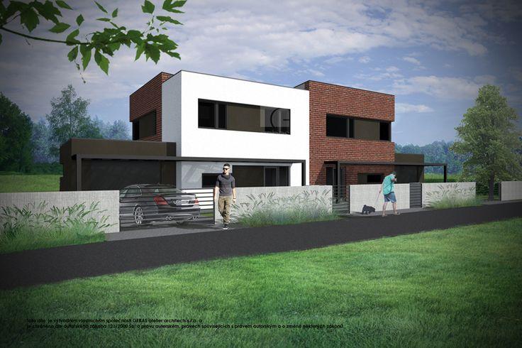 Objekt má navrženou plochou střechou. Ve vstupním podlaží se nachází společenská zóna – obytný prostor zahrnuje kuchyňský kout, jídelnu a obývací pokoj, ze kterého je přístup na venkovní terasu.