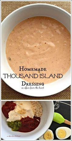Selbstgemachtes Tausend-Insel-Dressing – Eine Herzensangelegenheit   – Gluten free