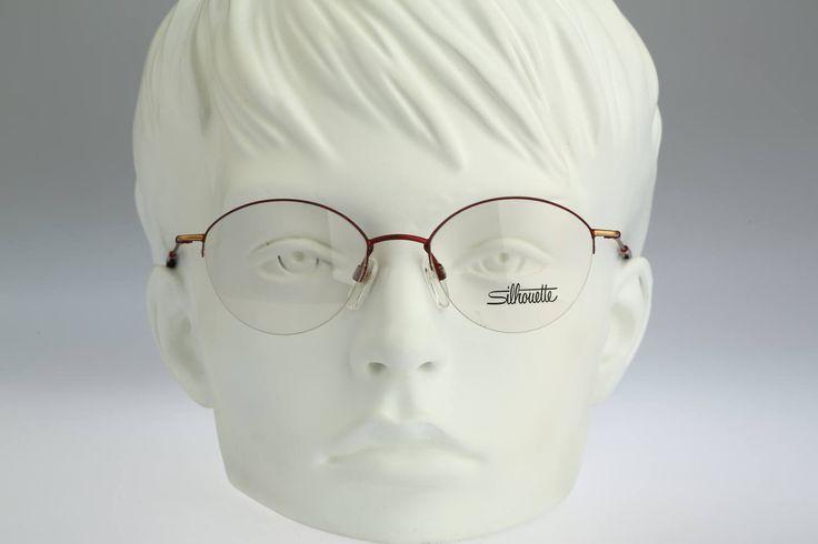 Silhouette M 6315 V 6053  / 90s Vintage eyeglasses / NOS / Lightweight frame by CarettaVintage on Etsy