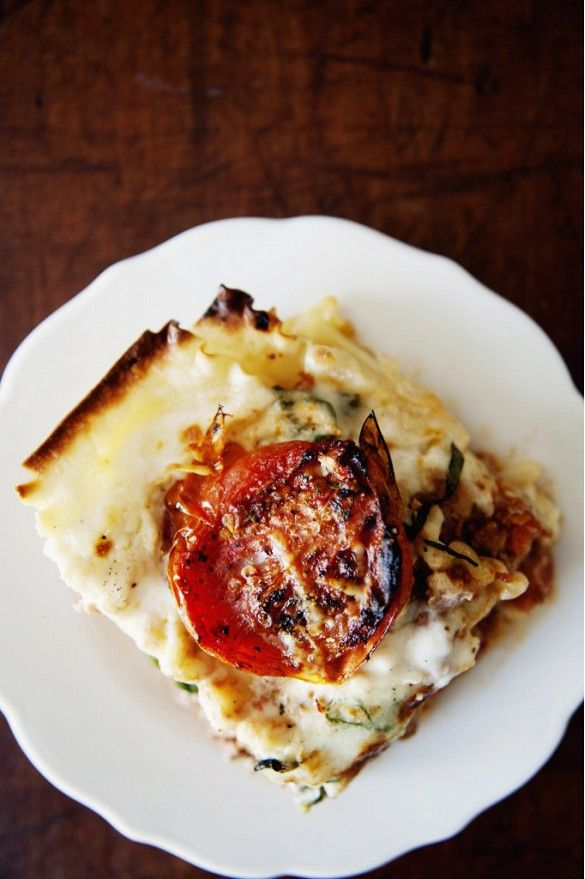 Lea Michele's Decadent Birthday Dinner Menu // Roasted Tomato Lasagna