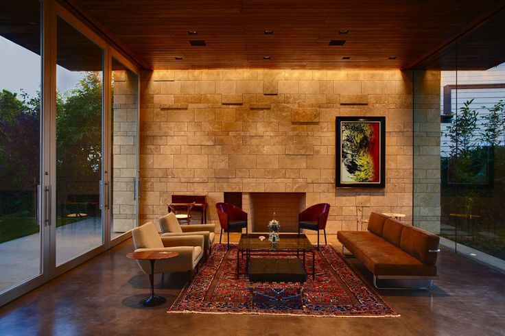 Carrillo Residence, Los Angeles by Ehrlich ArchitectsContemporary Home, Features Wall, Living Room Ideas, Contemporary House, Interiors Design, Lounges Room, Home Decor, Ehrlich Architects, Carrillo Resident