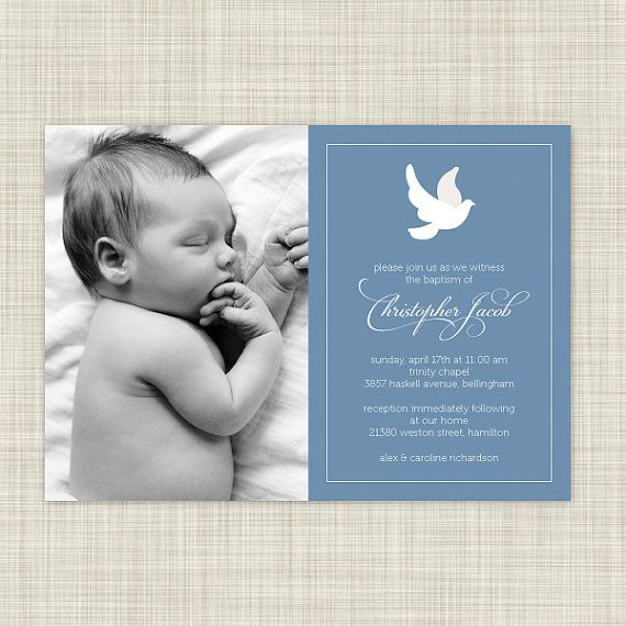 Baptism Christening Invitations Photo Card  by inkwelldesignstudio, $18.00
