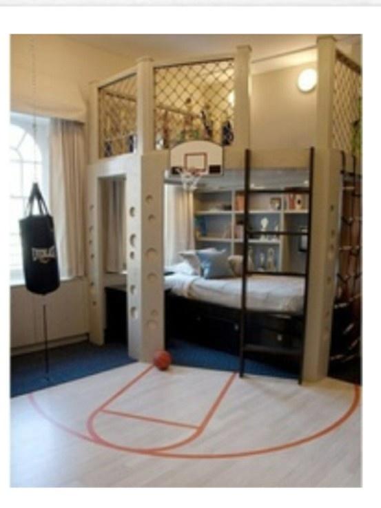 78 best basketball kids decor images on pinterest boy for Basketball bedroom ideas