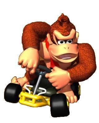 Donkey kong in his Kart , alternate from the official artwork set for #MarioKart64 on the #N64. #MarioKart #Mario #Nintendo64. Visit for more info http://www.superluigibros.com/mario-kart-64