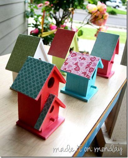Painted Birdhouses 4