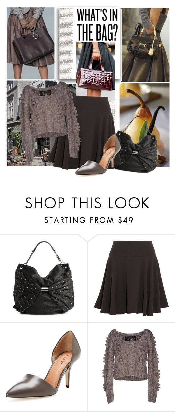 """Nobody Knows What's In Her Bag, Not Even Her"" by lavendergal ❤ liked on Polyvore featuring Louis Vuitton, Betsey Johnson, Maria Grachvogel, Renvy and Holy Preppy"