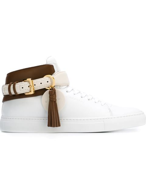 BUSCEMI Ankle-Strap Buckled Sneakers. #buscemi #shoes #sneakers