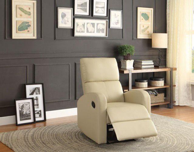 Mendon Contemporary Taupe Bi-Cast Vinyl Reclining Chair