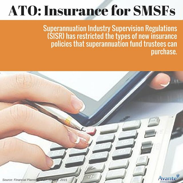 ATO's view on insurance for SMSF's. Part 1:   #Restrictions #SMSF #Avantefs   www.avantefinancial.com.au
