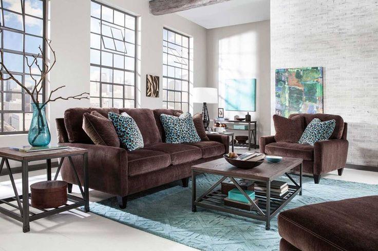 Jackson Furniture - Mulholland 4 Piece Living Room Set in Chocolate - 3255-03-4SET-CHOCOLATE