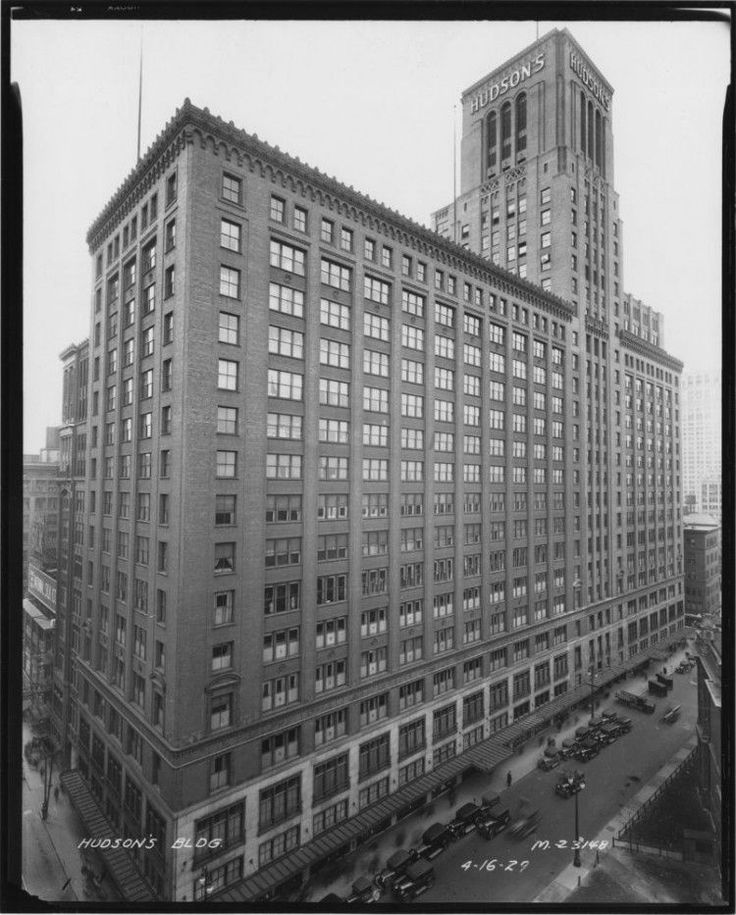 JL Hudson's Department Store Detroit Architectural