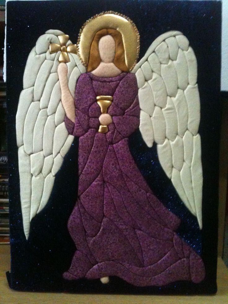 patchwork sin aguja - arcangel zadquiel inspirado desde un vitral