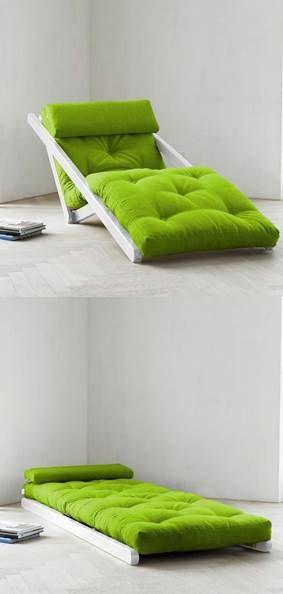 จะนั่งหรือจะนอน มุมไหนก็ได้ทั้งนั้น ^^ #bed #chair #home #easy #twoinone