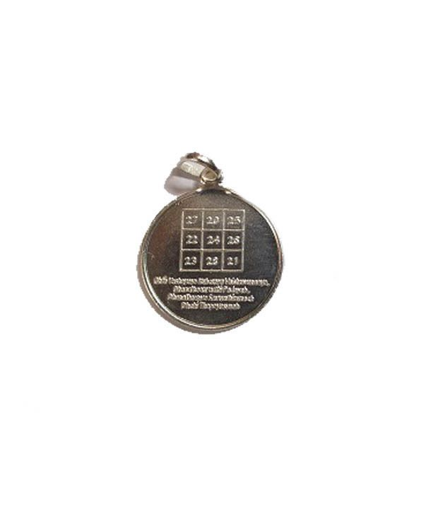 Traditional Kuber Yantra Pendant Pure Silver Energized and Blessed Locket