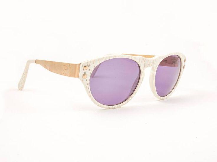Vintage Karl Lagerfeld 3601 White & Gold 1990's Sunglasses