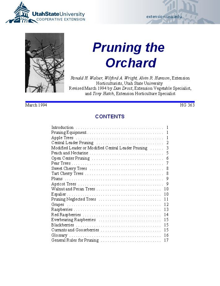 Pruning the Orchard | USU
