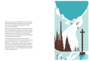 Tom Haugomat & Maylis de Kerangal - Hors-pistes   Editions Thierry Magnier  #mountain #silkscreen