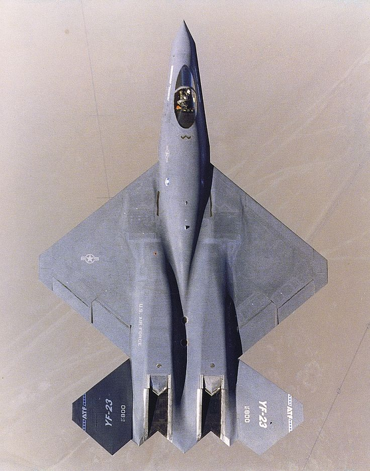 Northrop/McDonnell Douglas YF-23.  The plane that competed against the F-22 for our 5th gen fighter contract.
