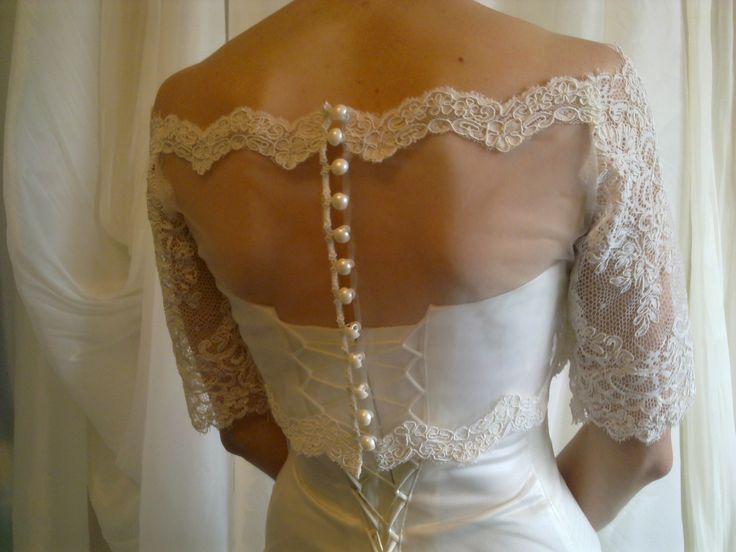 Застежка на платье из кружева
