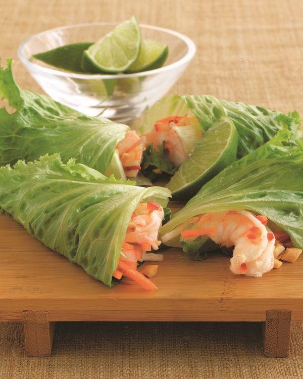 Thai-Inspired Healthy Summer Lettuce Wraps - so easy!