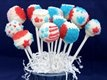 Red, White and Blue Cake Pops for the #fourthofjuly