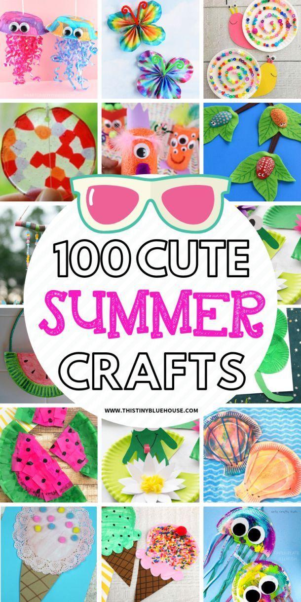 100 Busting Borey Summer Crafts For Kids – #Aktivitäten #Busting #Borey #Craf …