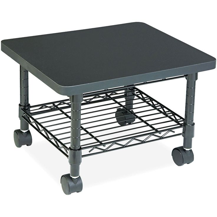 Mobile Under Desk Home Office Fax Printer Stand Cart