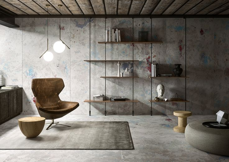 """Archeologie"" design by Franco Guerzoni for CEDIT - Ceramiche d'Italia. #interiors #environment #Italiandesign"