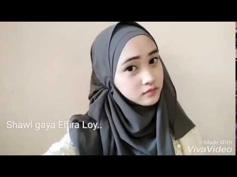 4 Styles of Shawl Tutorial by Aifa Haziqah - YouTube
