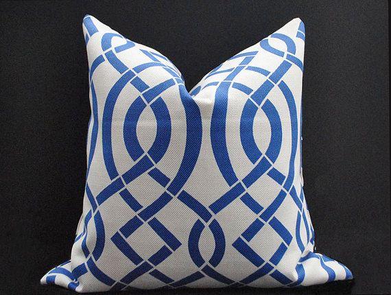 outdoor pillow cover blue grey pillow geometric pillow covers indoor outdoor cushion cover