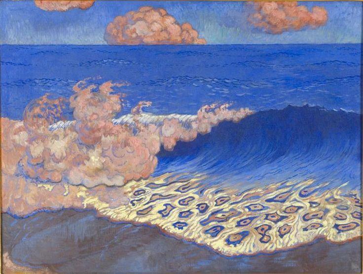 Marine bleue. Effet de vagues -   Georges Lacombe,   1893,  Rennes, musée des Beaux-Arts