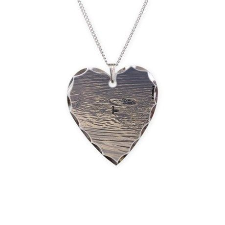 Water Memories Heart-shaped Necklace by songdovebooks  on CafePress.com